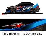 rally car vector livery.... | Shutterstock .eps vector #1099458152