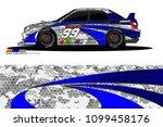 rally car vector livery.... | Shutterstock .eps vector #1099458176