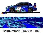 rally car vector livery.... | Shutterstock .eps vector #1099458182