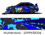 rally car vector livery.... | Shutterstock .eps vector #1099458206