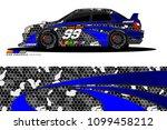 rally car vector livery.... | Shutterstock .eps vector #1099458212