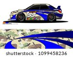 rally car vector livery.... | Shutterstock .eps vector #1099458236