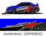 rally car vector livery.... | Shutterstock .eps vector #1099458242