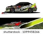 rally car vector livery.... | Shutterstock .eps vector #1099458266