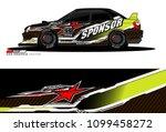 rally car vector livery.... | Shutterstock .eps vector #1099458272