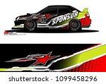 rally car vector livery.... | Shutterstock .eps vector #1099458296