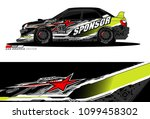 rally car vector livery.... | Shutterstock .eps vector #1099458302