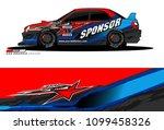 rally car vector livery.... | Shutterstock .eps vector #1099458326