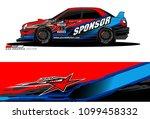 rally car vector livery.... | Shutterstock .eps vector #1099458332