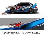 rally car vector livery.... | Shutterstock .eps vector #1099458362