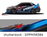 rally car vector livery.... | Shutterstock .eps vector #1099458386