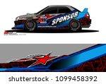 rally car vector livery.... | Shutterstock .eps vector #1099458392