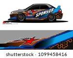 rally car vector livery.... | Shutterstock .eps vector #1099458416