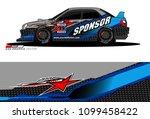 rally car vector livery.... | Shutterstock .eps vector #1099458422