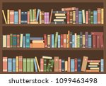 books in bookcase. library... | Shutterstock .eps vector #1099463498