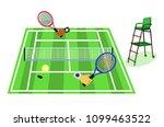tennis grass court. grass...   Shutterstock .eps vector #1099463522