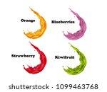 visual drawing flow of orange ... | Shutterstock .eps vector #1099463768