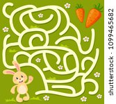help little bunny find path to... | Shutterstock .eps vector #1099465682