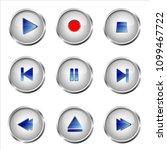 set of media buttons   Shutterstock .eps vector #1099467722