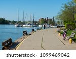 Port Dalhousie harbor in St. Catharines, Ontario