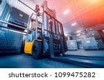forklift loader. pallet stacker ... | Shutterstock . vector #1099475282