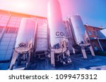 the tank with water  carbon and ... | Shutterstock . vector #1099475312