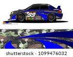 rally car vector livery.... | Shutterstock .eps vector #1099476032