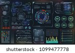 hud and ui set elements  sci fi ... | Shutterstock .eps vector #1099477778