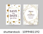 set of wedding cards with... | Shutterstock .eps vector #1099481192