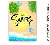 summer beach seashore. summer... | Shutterstock .eps vector #1099483082