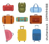 a collection of luggage icons... | Shutterstock .eps vector #1099494488