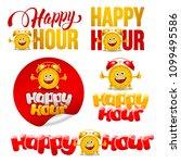 happy hour design elements set... | Shutterstock .eps vector #1099495586
