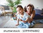 portrait of beautiful young... | Shutterstock . vector #1099496882