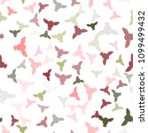 seamless vector pattern with... | Shutterstock .eps vector #1099499432