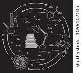 scientific  education elements. ... | Shutterstock .eps vector #1099502105