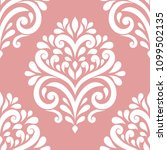 pink and white vintage vector... | Shutterstock .eps vector #1099502135