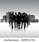 business people in the city | Shutterstock .eps vector #109951742