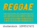 reggae condensed display font...