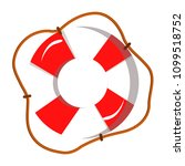 lifebuoy red and white with a... | Shutterstock .eps vector #1099518752