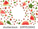 creative frame flat layout of...   Shutterstock . vector #1099523042