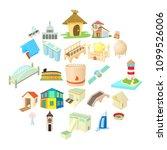 facility icons set. cartoon set ...   Shutterstock .eps vector #1099526006