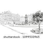 france. lyon. place des... | Shutterstock .eps vector #1099533965