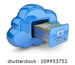 file storage in cloud. 3d... | Shutterstock . vector #109953752