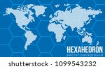 vector flat world map with... | Shutterstock .eps vector #1099543232