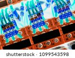a number of numbered wires... | Shutterstock . vector #1099543598