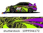 rally car vector livery.... | Shutterstock .eps vector #1099546172