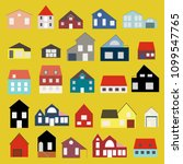 minimalist houses icons set in...   Shutterstock .eps vector #1099547765