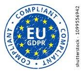 eu gdpr compliant label... | Shutterstock .eps vector #1099556942