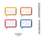 four separate rectangular... | Shutterstock .eps vector #1099560935