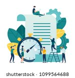 vector illustration  clock with ... | Shutterstock .eps vector #1099564688